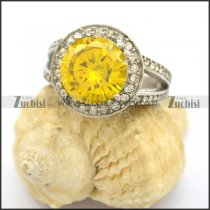 Big Round Bright Yellow Princess Cut Engagement Rings r002383