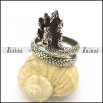 7 Dragon Heads Ring r002490