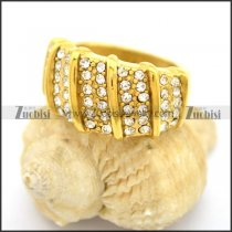 Jewelry-Lover Gold Rhinestones Ring r002733
