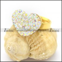 AB Color Rhinestone Heart Rings r002732
