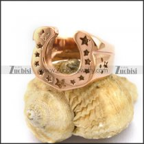 Rose Gold Plating Stainless Steel Horse's Hoof Ring r003039