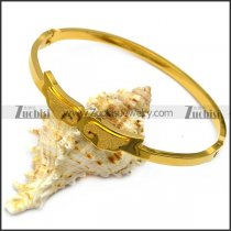 angel wings gold plating bangle for women b007938