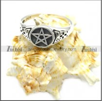 sterling silver casting pentagram ring r006082