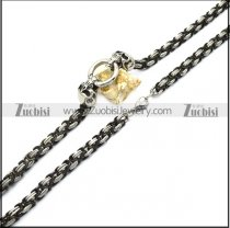 stainless steel skull chain for matching big skull pendants n002331