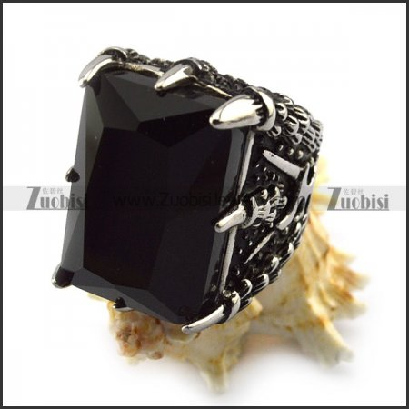 Black Jumbo Stone Rings Crafted Casting r004227