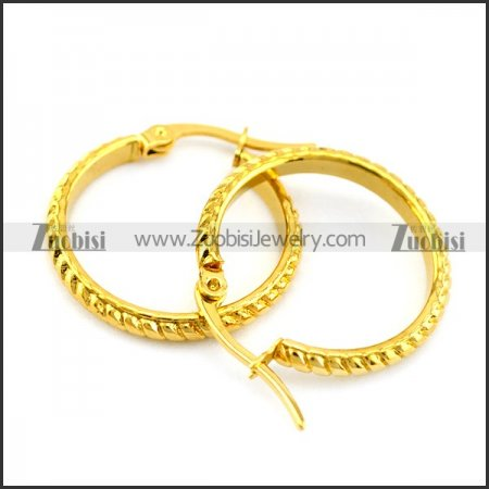 golded plated steel earrings