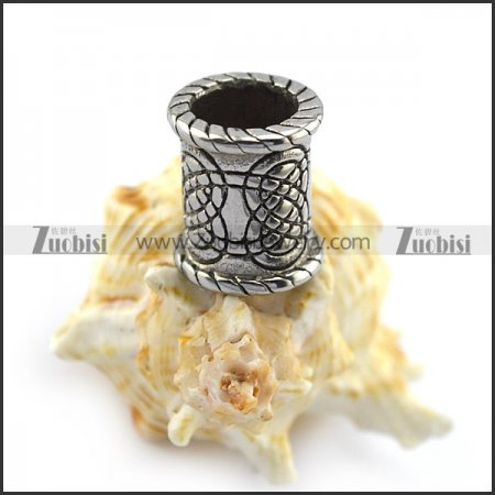 Stainless Steel Celtic Knot Beard Bead with Big Hole for Mens a000356
