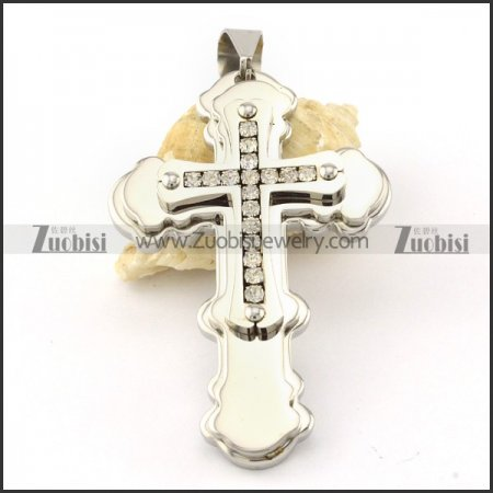 functional nonrust steel Cross Pendants - p000567