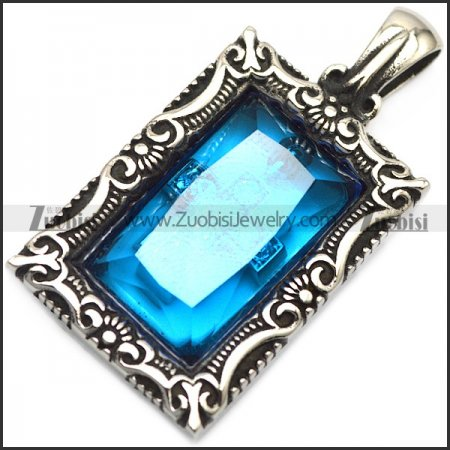clear blue stone pendant for unisex