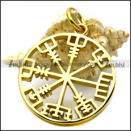 golden plating hollow viking pendants