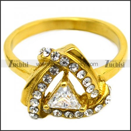 zircon golden ring for ladies
