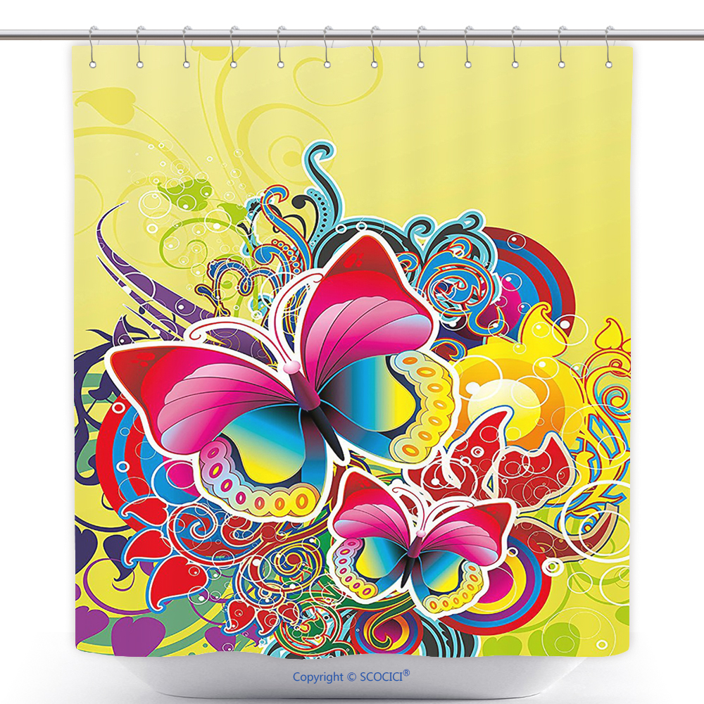 Popular US$ 29.86 - Stylish Shower Curtain Abstract Macro Photo Of Cells  HI27
