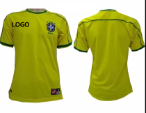 1998 Retro Brazil Home Soccer Jersey Adult Football Shirt