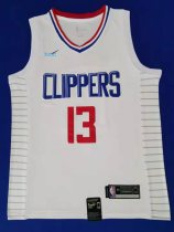 2019/20 men Los Angeles Clippers 13 GEORGE white basketball jersey
