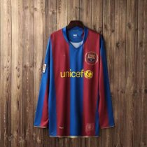 19-20 Barcelona Retro Long Sleeve Soccer Jersey Adult Football Shirt