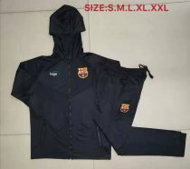 2019-20 Men Barcelona Dark gray Soccer jacket with hoodies football kits