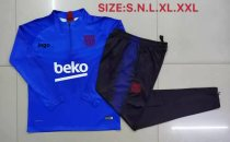 2019-20 Adult jacket Barcelona Colorful blue soccer tracksuit
