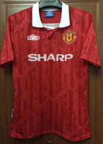 1992 Manchester United  Retro  man u red soccer jersey