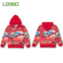Lenrick Kids Cartoon Cars Hoodies Red