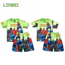 Lenrick Spiderman Boys Pajamas Set  Green