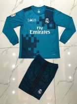 Real Madrid Third Away Long Sleeve Jersey Uniforms