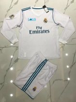 Real Madrid Home Long Sleeve Jersey Uniforms