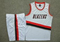 Men's Portland Trail Blazers  White Home Jersey Uniforms Adult Team Basketball Kits Custom Name Number