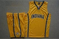 Men's Indiana Pacers Yellow Custom Replica Jersey Kits Adult Basketball Uiforms Custom Name Number