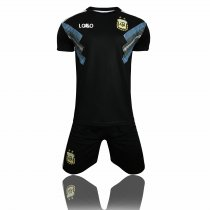 2018 Kids Russia Argentina Away Soccer Uniforms Children Football Kits