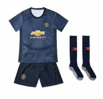 2018/19 Kids Manchester United Away Without Brand Logo Soccer Kits Children Football Uniform