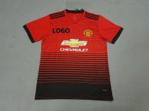 2018-19 Thai Quality  Men Manchester United Home Red Soccer Jersey Adult Football Kits
