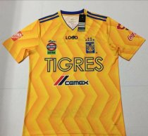 18-19 Thai Qualit Men 6 star tigres yellow home Soccer Jersey