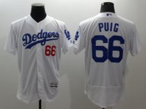 Los Angeles Dodgers Cody Jersey White Puig 66 Baseball Shirt