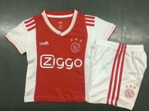 2018/19 Kids Ajax Home Red Soccer Jersey Kit Child Football Uniforms