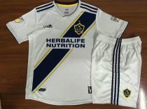 2018/19 Kids Los Angeles Galaxy Home Soccer Jerseys Kit White Uniforms