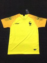 2018/19 France Two Star Yellow Short Sleeve Goal Keeper Jersey