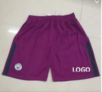 18-19 MANCHESTER CITY Away Purple Soccer Short Adult Football Short-Thai Quality