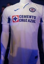 19/20 Thai Quality With Logo Cruz azul Away White Soccer Jersey Football Shirt