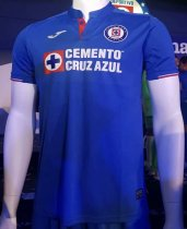 19/20 Thai Quality With Logo Cruz azul Home Blue Soccer Jersey Football Shirt