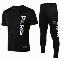 2018-2019  Paris Jordan Black New Football Jersey Training Suits