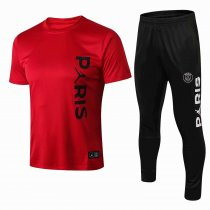 2018-2019 Paris Jordan Red Training Short T Shirt And Long Pant Suits Kit