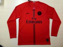 2019/20 Men PSG Red Long Sleeves Soccer Jerseys