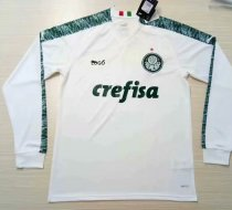 19-20 Men Palmeiras Away White Long Sleeves Soccer Jerseys