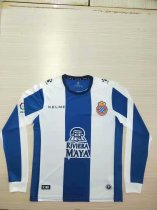 2019-20 Men Espanyol Home Long Sleeve Soccer Jerseys