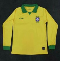 19-20 Men Brazil Home Long Sleeve Soccer Jersey -Thai Quality