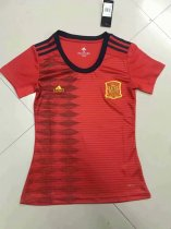 2019-20 Women Spain Home Red Soccer Jersey Thai Quality