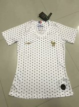 2019-20 Women France White Soccer Jersey Thai Quality