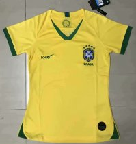 2019-20 Woman Brazil Yellow Home Soccer Jersey Football Shirt