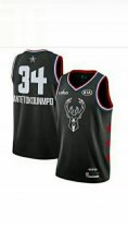 2019 Giannis Antetokounmpo Black  All-Star Game Swingman Jersey