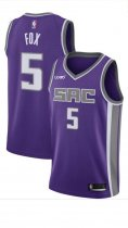 Men's De'Aaron Fox Purple Sacramento Kings Swingman Jersey - Icon Edition